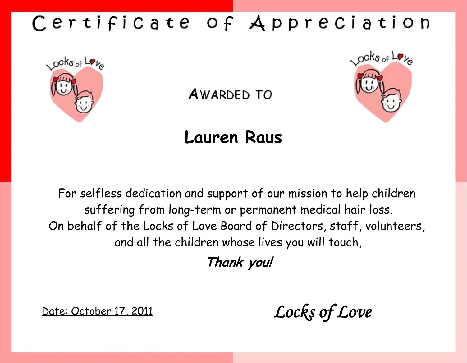donation appreciation